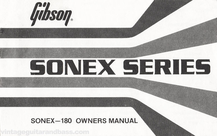 1980 Gibson Sonex owners manual front cover