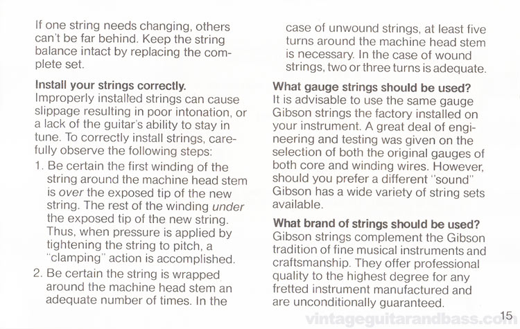 1980 Gibson Sonex owners manual - page 15