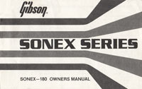 1980 Gibson Sonex owners manual