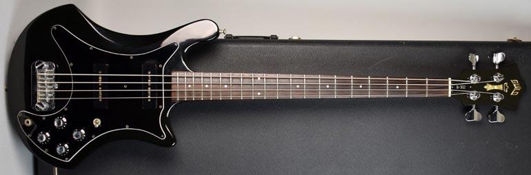 1981 Guild B302, black