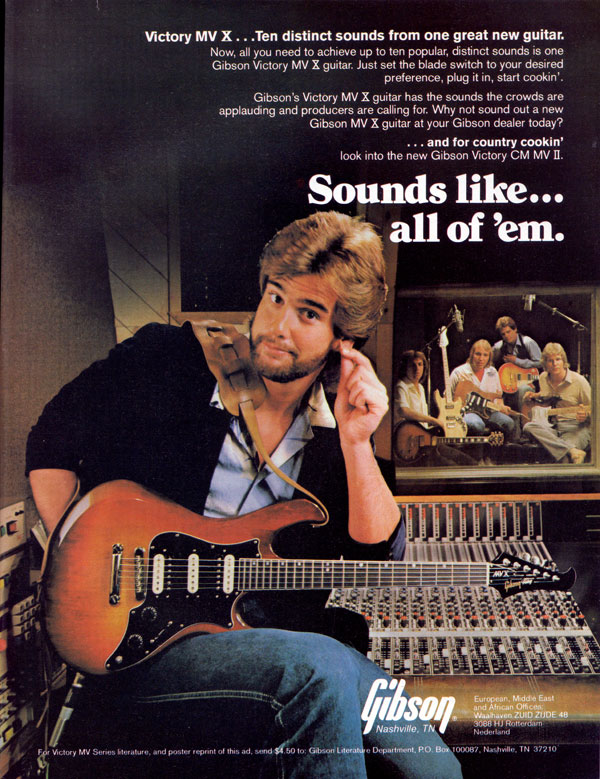 Gibson advertisement (1981) Sounds Like... All Of