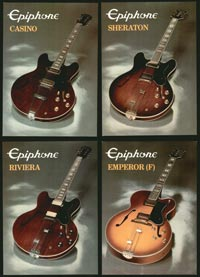 1982 Epiphone product cards