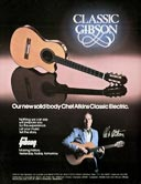 1982 promotional flyer for the Gibson Chet Atkins classic electric