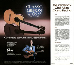 1982 flyer for the Chet Atkins Classic Electric