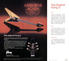 1982 flyer for the Gibson Flying V guitar