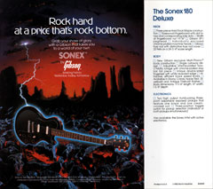 1982 flyer for the Gibson Sonex Deluxe guitar