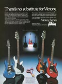 1982 promotional flyer for the Gibson Victory guitar and bass series
