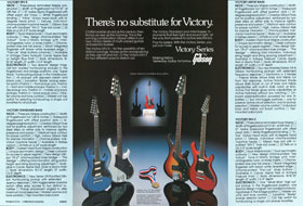 1982 flyer for the Gibson Victory bass and Multi-Voice guitar
