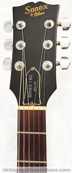 Gibson Sonex 180 deluxe hadstock front with Sonex logo