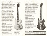 1961 Gibson brochure announcing the Les Paul Custom and Standard