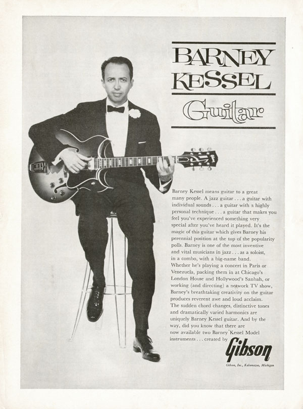 Gibson advertisement (1962) Barney Kessel Guitar