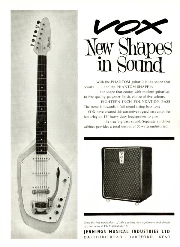Vox advertisement (1963) New Shapes in Sound