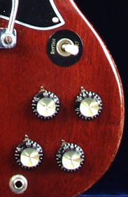 1969 Gibson SG special - control knobs