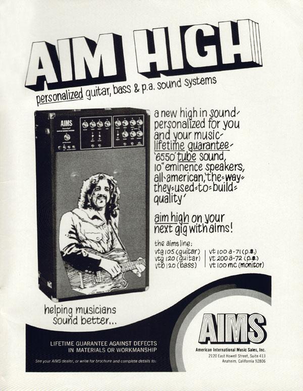 AIMS advertisement (1972) AIM High