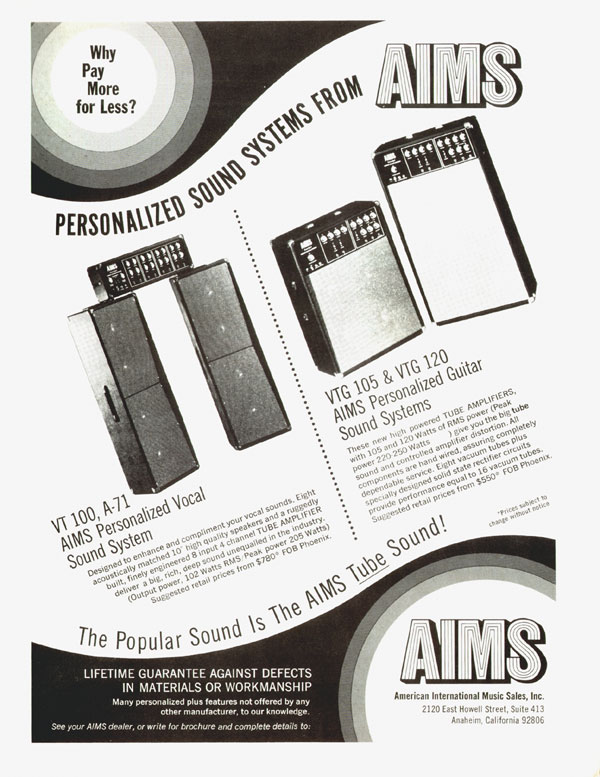 AIMS advertisement (1972) Personalizes Sound Systems from AIMS