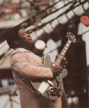 BB King playing some blues. From the Gibson