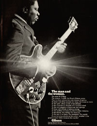 1972 Gibson Ad featuring BB King - The Man And The Woman