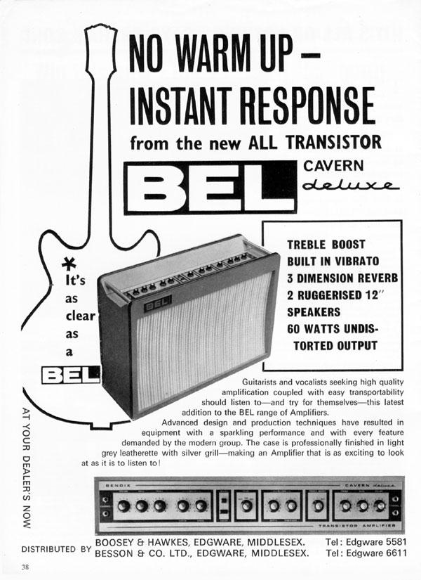 BEL advertisement (1965) No Warm Up - Instant Response