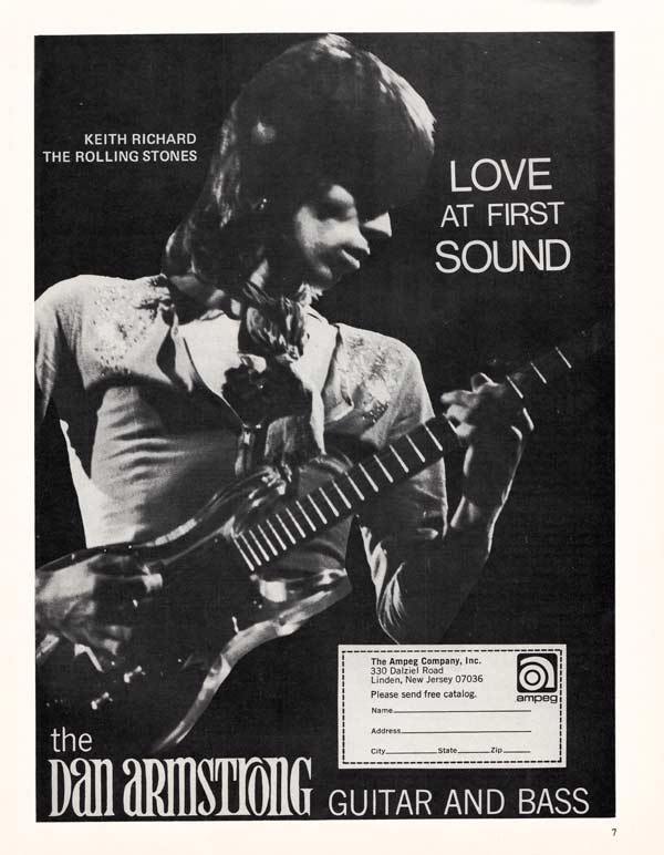 Dan Armstrong advertisement (1970) Love at First Sound