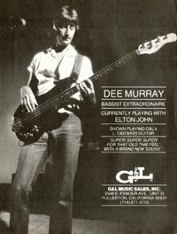 G&L L-1000 - Dee Murray - Bassist Extraordinaire