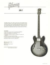 1964/65 Gibson EB2 promo sheet