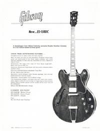 Gibson ES-150DC promo sheet