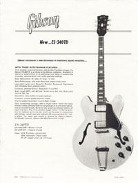 Gibson ES-340TD promo sheet