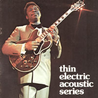 BB King on the cover of the 1975 Gibson Thinline Acoustic catalog