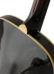 1959 Epiphone Century heel-cap detail.