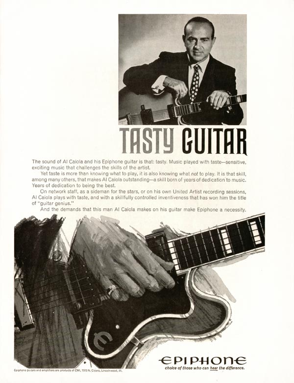 Epiphone advertisement (1966) Tasty Guitar