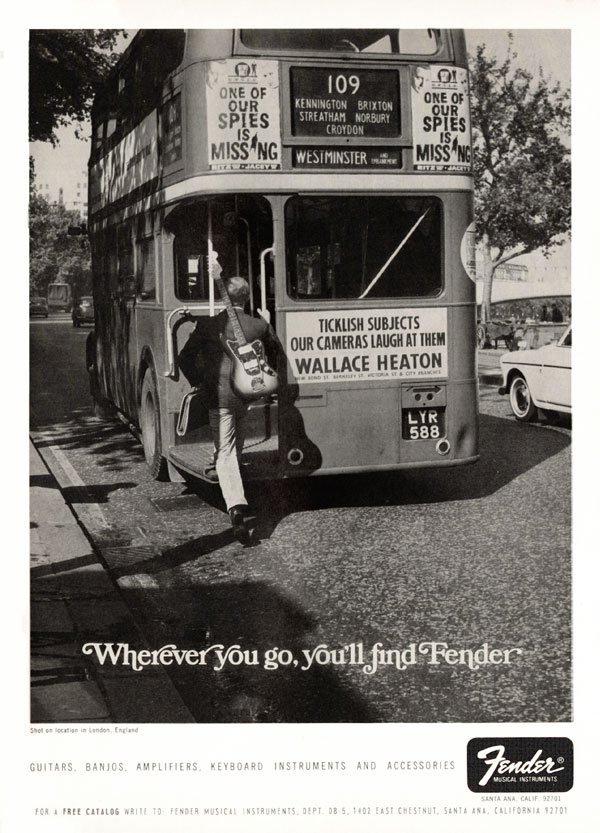 Fender advertisement (1967) Wherever you go you