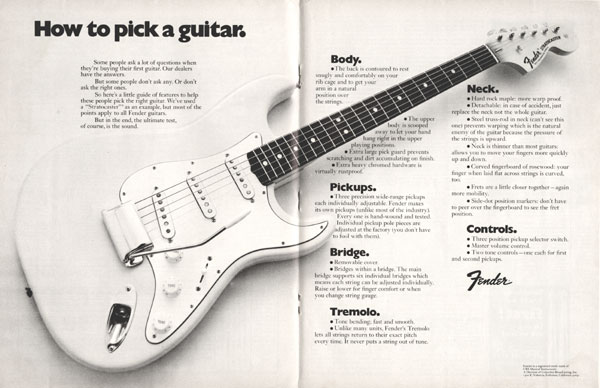 Fender advertisement (1972) How To Pick a Guitar