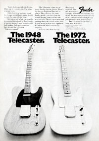 Fender Telecaster - The 1948 Telecaster. The 1972 Telecaster