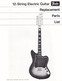 Fender 12-String 1968 parts list page 1