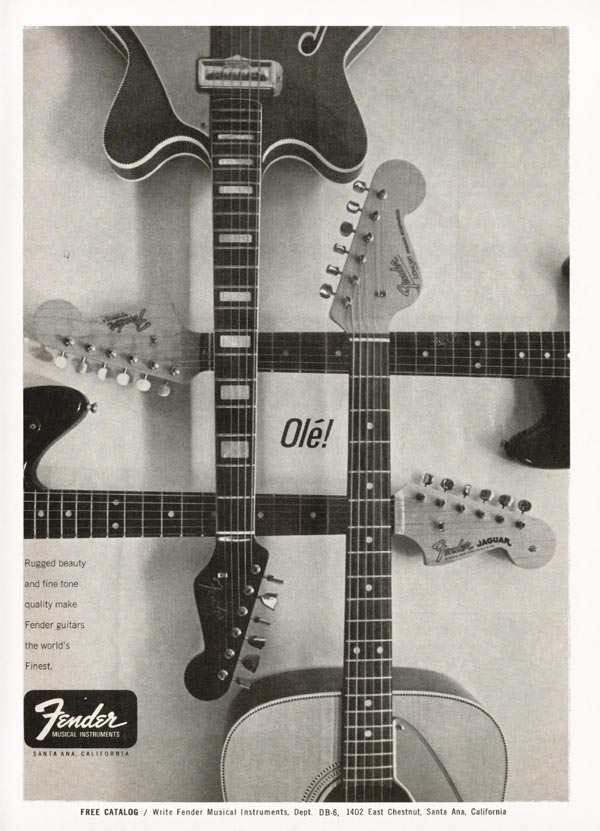 Fender advertisement (1966) Olé