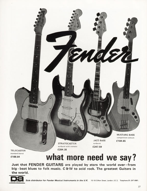 Fender advertisement (1971) Fender. What more need we say
