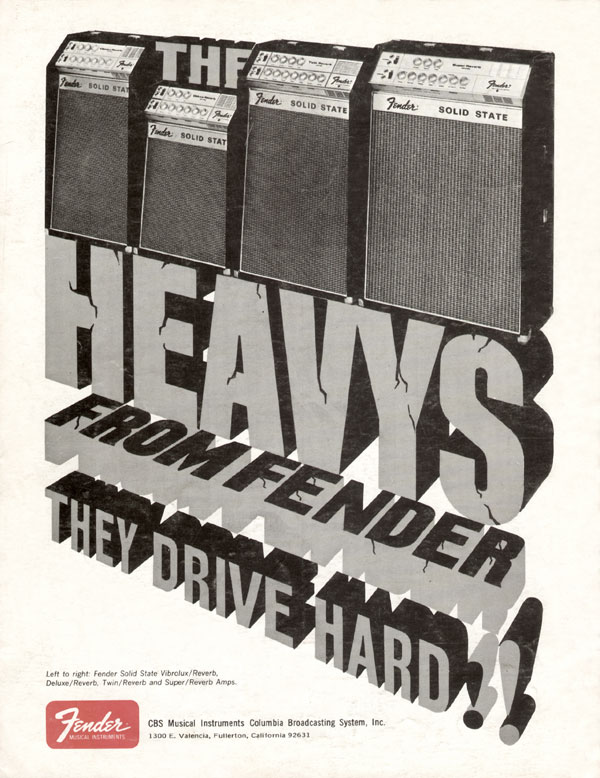 Fender advertisement (1969) The Heavys From Fender
