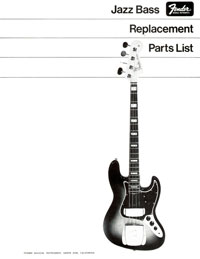 Fender Jazz 1968 parts list page 1