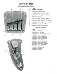 Fender Mustang 1976 parts list page 2