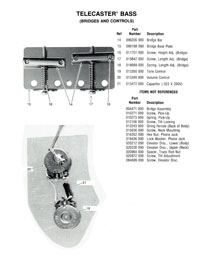 Fender Telecaster 1976 parts list page 2