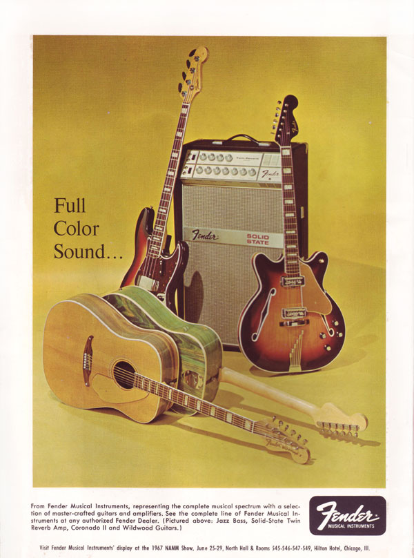 Fender advertisement (1967) Full Color Sound