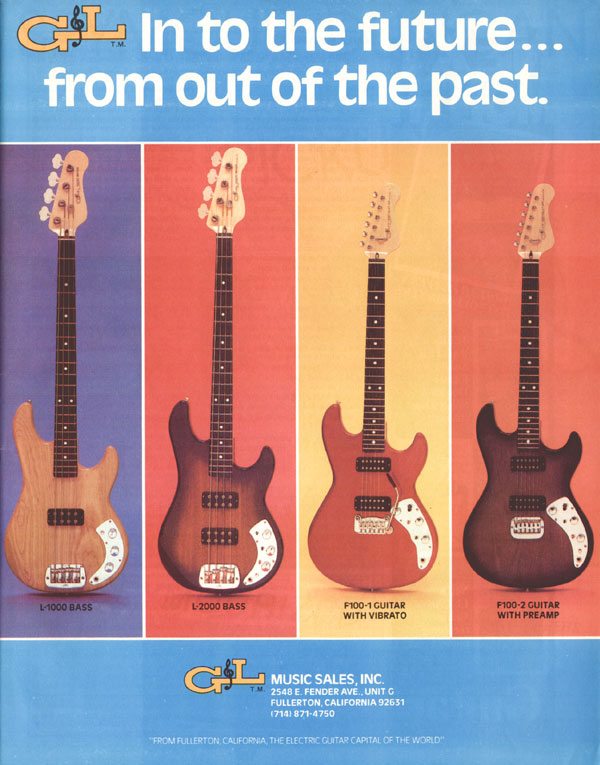 G&L advertisement (1980) In to the future... from out of the past