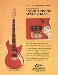 G&L F100-1 - Its the finest vibrato ever