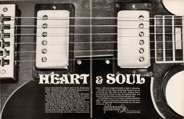 Gibson advertisement (1972) Heart And Soul