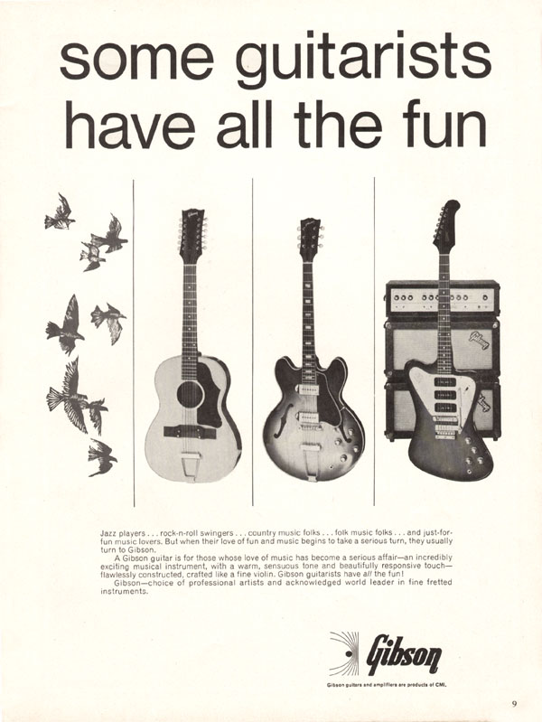 Gibson advertisement (1968) Some Guitarists Have All the Fun