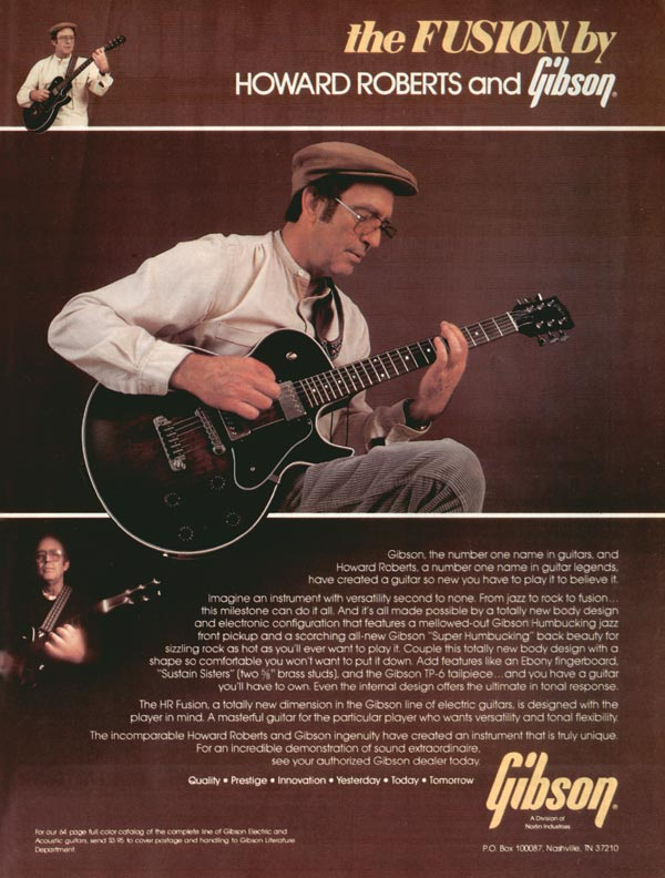 Gibson advertisement (1981) The Fusion by Howard Roberts and Gibson