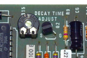 RD Artist guitar decay time adjustment