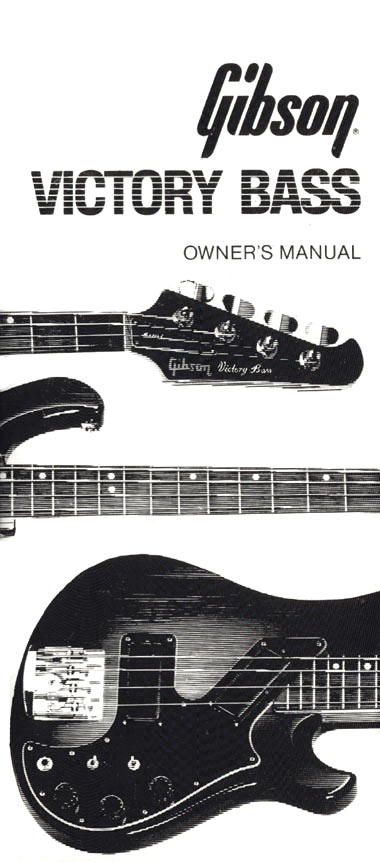 1981 Gibson Victory bass owners manual page 1
