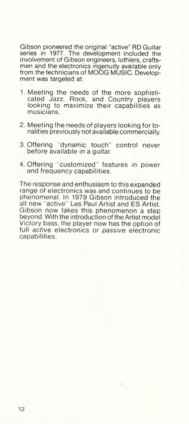1981 Gibson Victory bass owners manual page 12