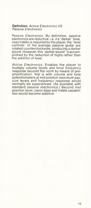 1981 Gibson Victory bass owners manual page 13